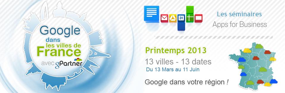 Découvrez les Google Apps for Business avec les séminaires gPartner