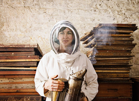 apiculteur-apicultrice-materiel-ruche-miel